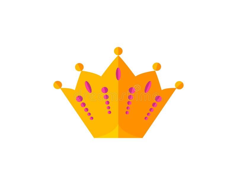 传染媒介金冠 向量例证