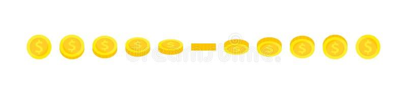 传染媒介金币动画框架的魍魉例证 在比赛发展、流动比赛或者行动图表的用途 皇族释放例证
