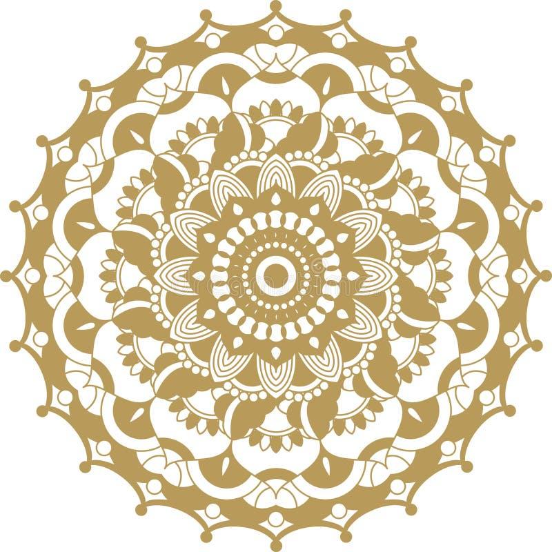 传染媒介金黄等高坛场装饰品 东方圆的样式 库存照片