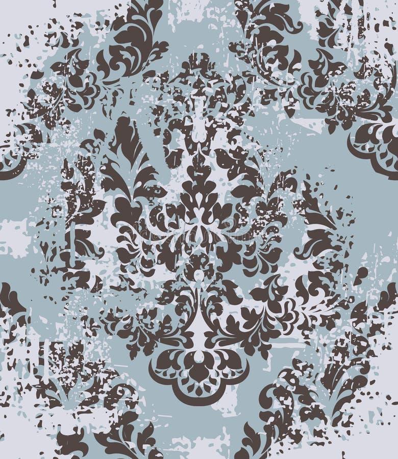 传染媒介锦缎样式元素 古典豪华古板的装饰品难看的东西背景 皇家维多利亚女王时代的纹理为 皇族释放例证