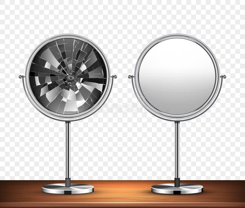 传染媒介镜子 库存例证