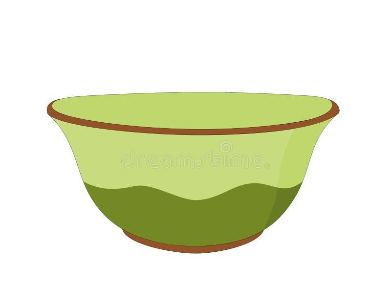 传染媒介陶瓷碗 皇族释放例证