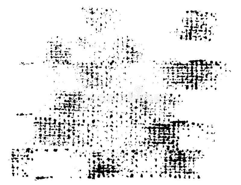 传染媒介难看的东西墨水帆布在纸的纹理邮票 库存例证