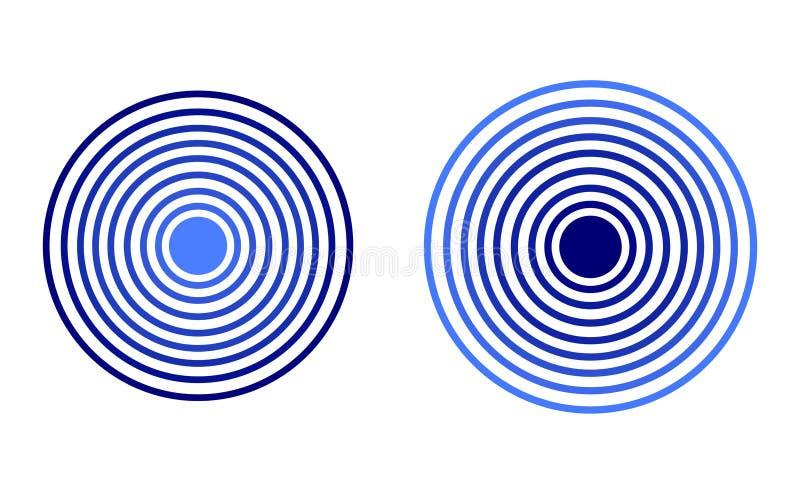 传染媒介雷达象,蓝色颜色,被隔绝的例证 皇族释放例证