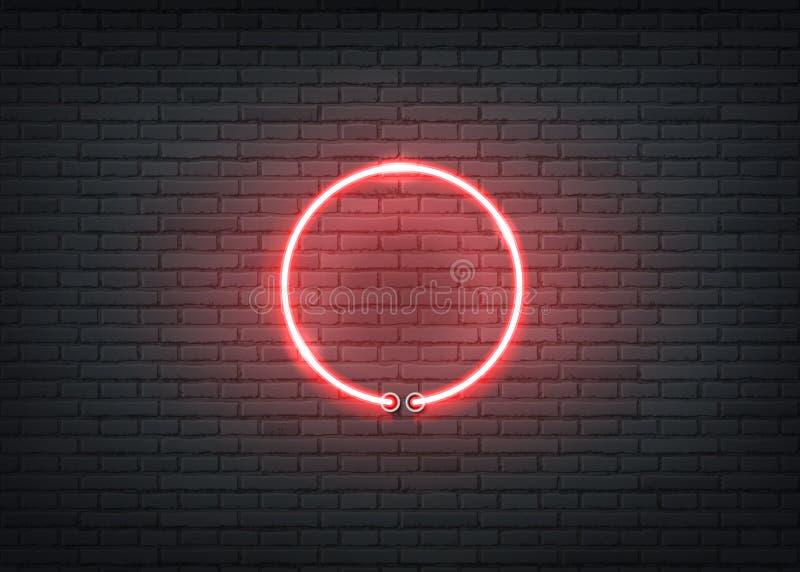 传染媒介霓虹入口红色标志酒吧夜总会 库存例证