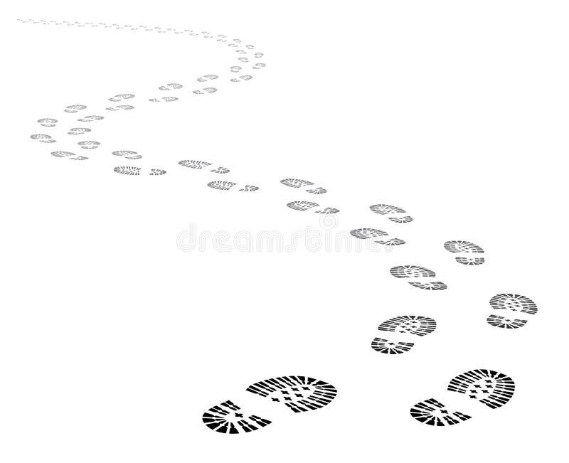 传染媒介鞋子跟踪小径 皇族释放例证