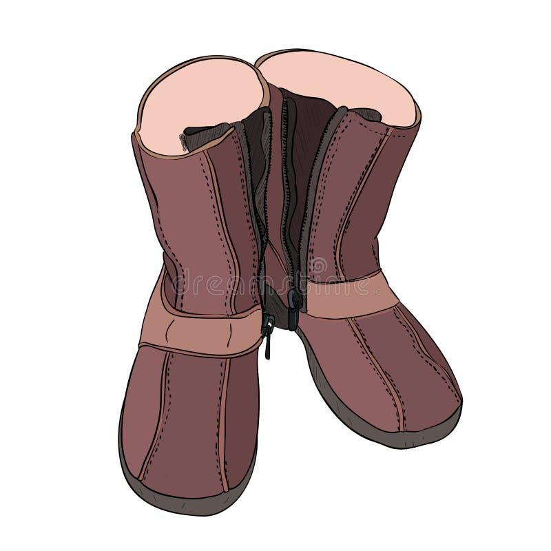 传染媒介鞋子颜色剪影  皇族释放例证
