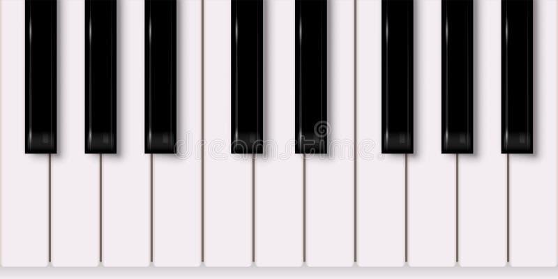 传染媒介音乐设计元素 可用的背景eps文件查出关键董事会钢琴白色 向量例证