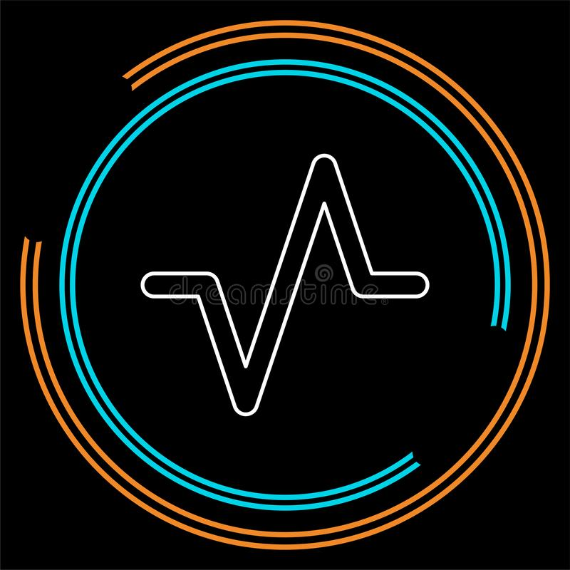 传染媒介音量波浪例证,音频音乐 库存例证