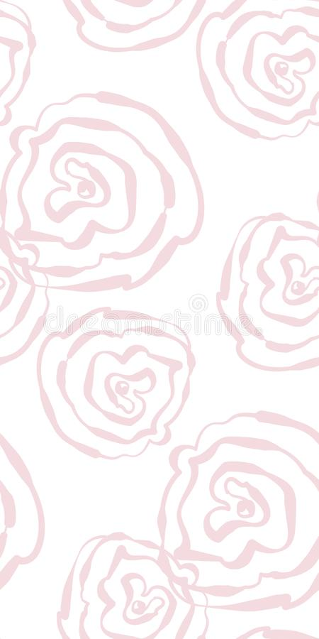 传染媒介风格化现代无缝的花卉样式斯堪的纳维亚人 向量例证
