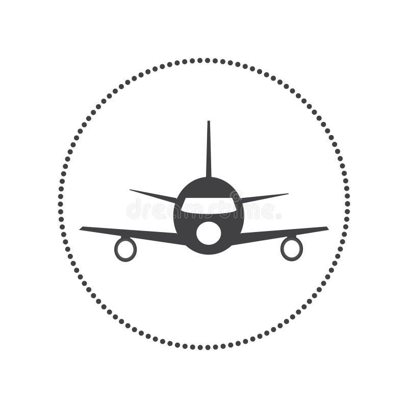 传染媒介飞机象 库存例证