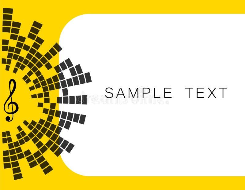 传染媒介黄色横幅例证,与文本音乐钥匙的空间,调平器 EQ 艺术设计 向量例证