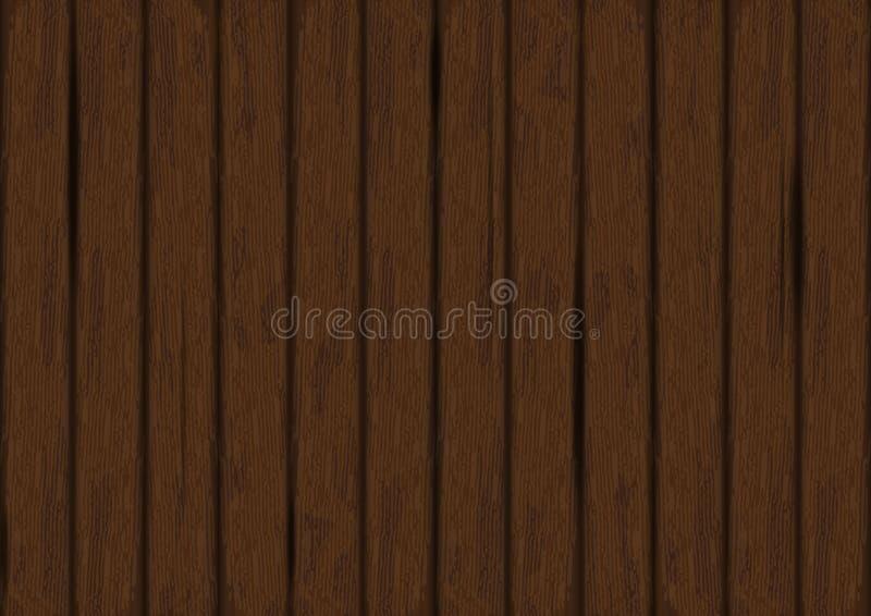 传染媒介黑暗的木纹理背景 木的墙壁 老难看的东西浸泡 皇族释放例证