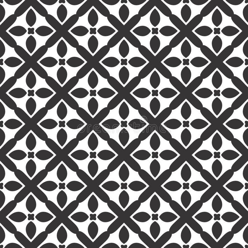 传染媒介黑白色重复设计 皇族释放例证