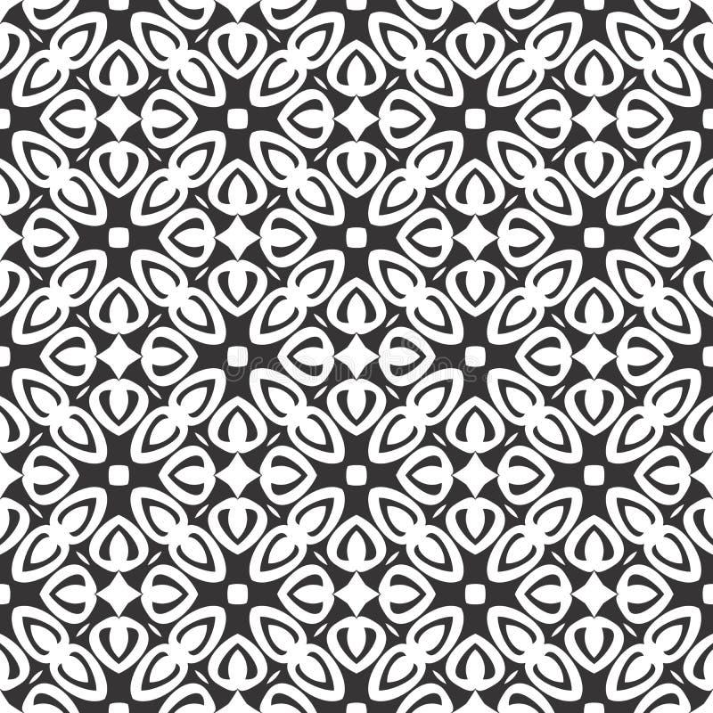 传染媒介黑白色重复设计 向量例证