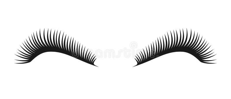 传染媒介黑睫毛标志 睫毛商标 库存例证