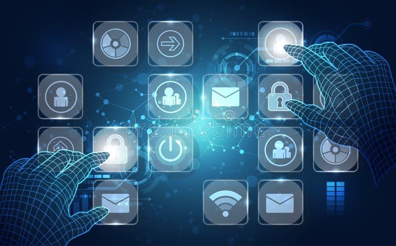 传染媒介,接触未来,接口技术,未来用户经验 抽象背景 皇族释放例证