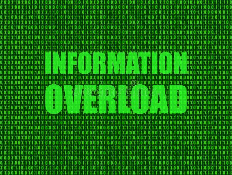 传染媒介:信息超载背景,技术光亮的例证 皇族释放例证
