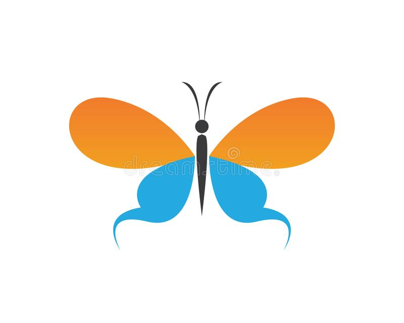 传染媒介-蝴蝶概念性简单,五颜六色的象 徽标 向量例证