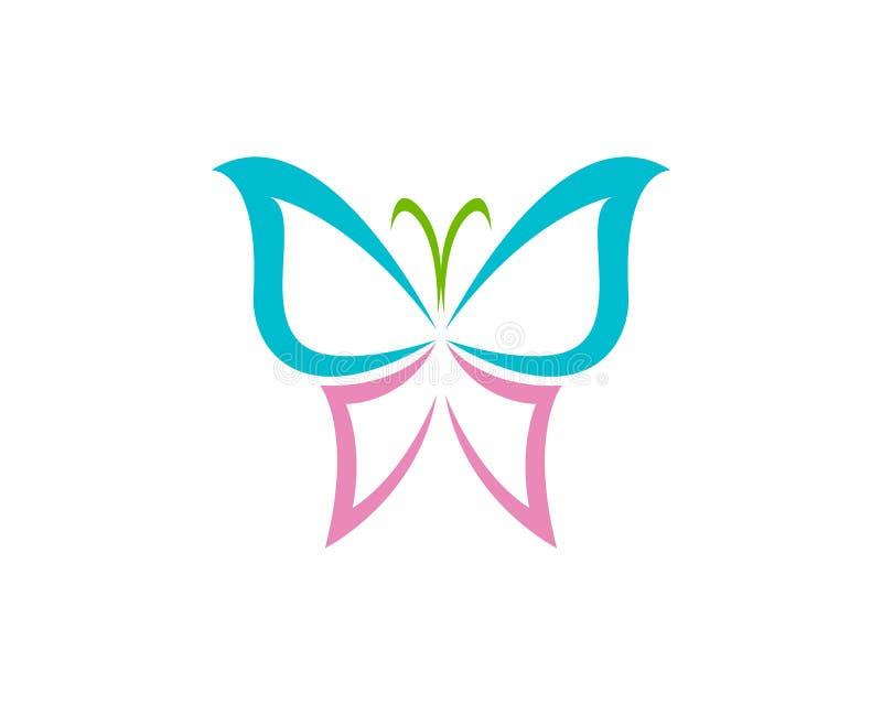 传染媒介-蝴蝶概念性简单,五颜六色的象 徽标 Vecto 皇族释放例证