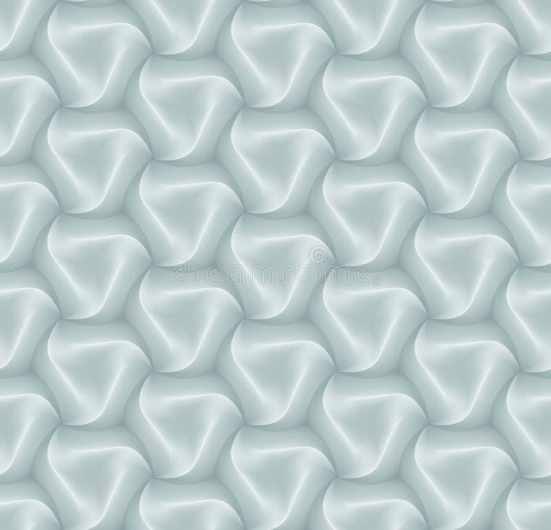 传染媒介3d六角形瓦片装饰和设计瓦片的砖样式 皇族释放例证