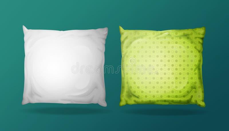传染媒介3d现实枕头大模型集合 向量例证