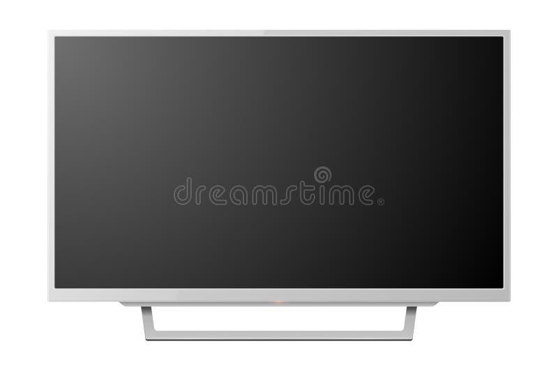 传染媒介3d现实白色空白电视Screenon立场 r ?? 皇族释放例证