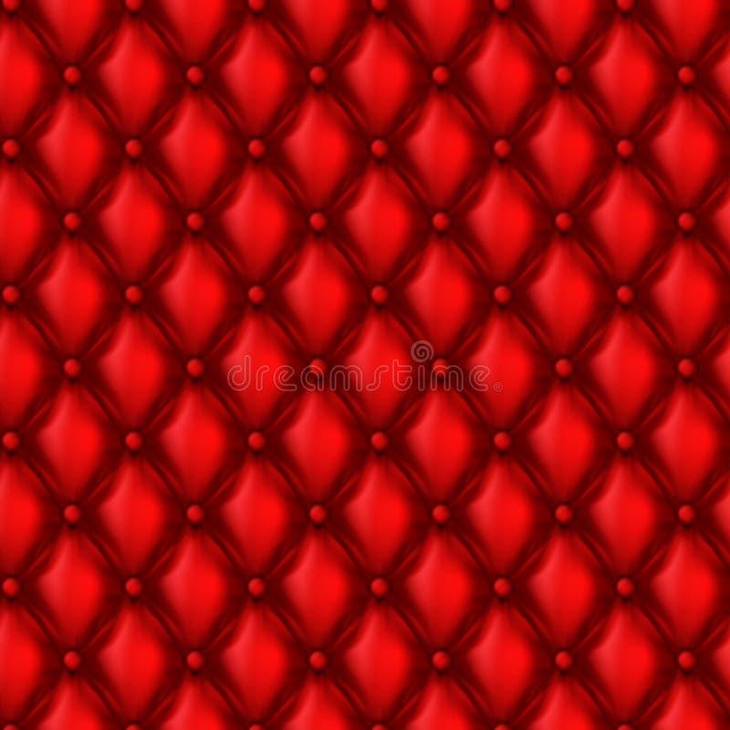 传染媒介3d皮革室内装饰品无缝的样式 皇族释放例证