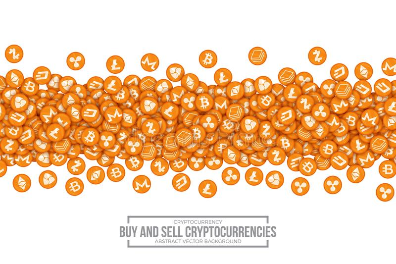 传染媒介3D Cryptocurrency Bitcoin象 向量例证