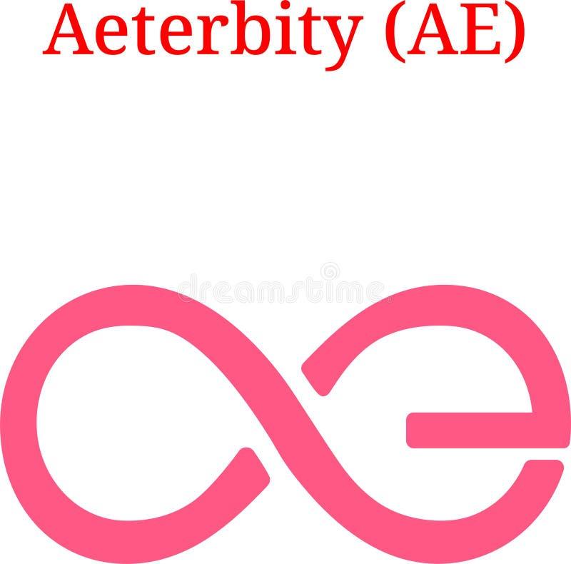 传染媒介Aeternity AE商标 皇族释放例证