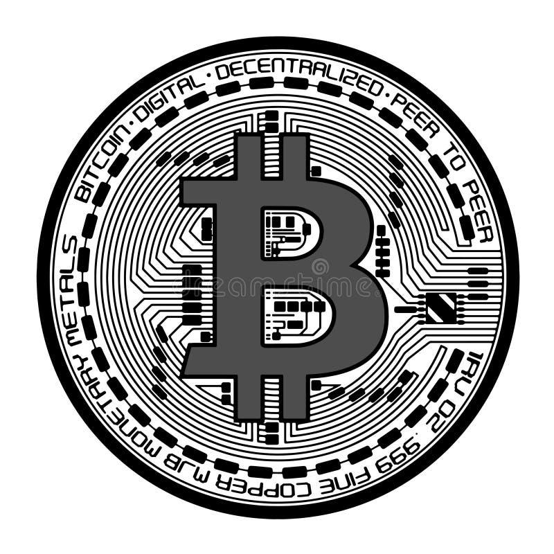 传染媒介bitcoin例证 皇族释放例证