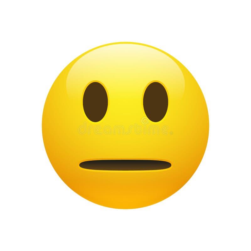 传染媒介Emoji黄色中立面孔 库存例证