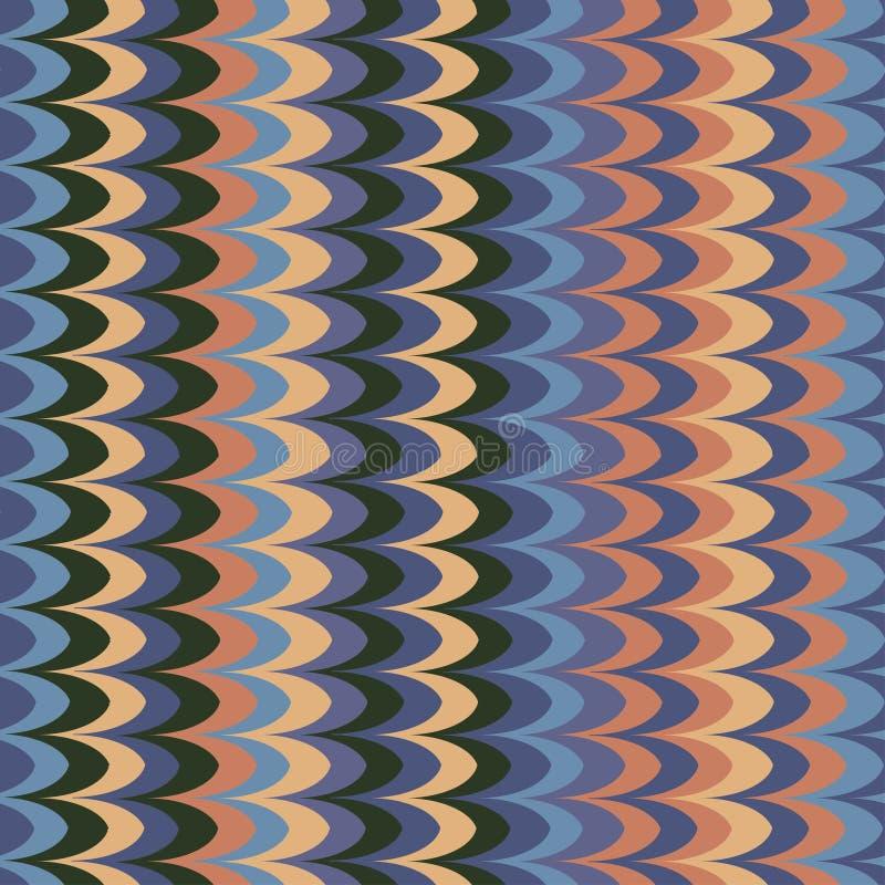 传染媒介ikat波浪对比减速火箭的无缝的样式 向量例证