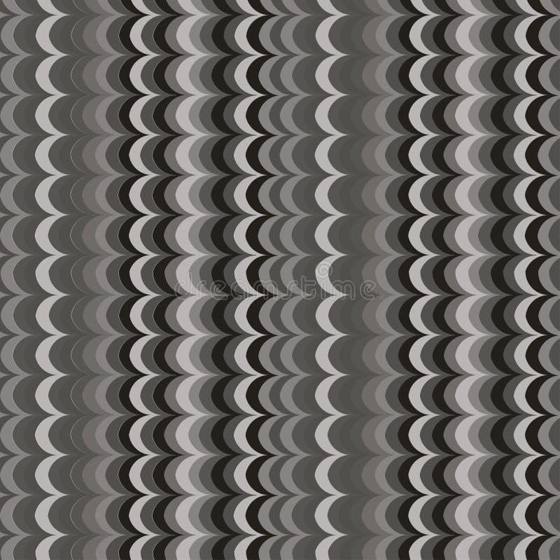 传染媒介ikat波浪灰色无缝的样式 向量例证