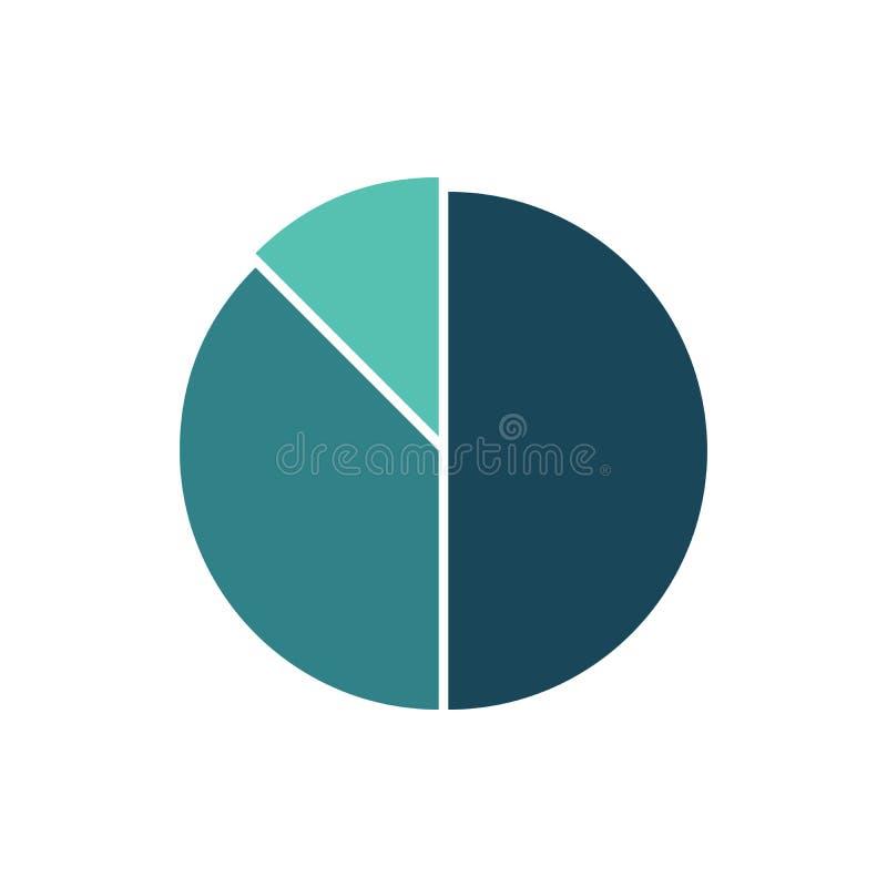 传染媒介infographic圈子或饼 图表的,循环的图,圆的图,工作流布局,数字选择,网络设计模板 3 皇族释放例证