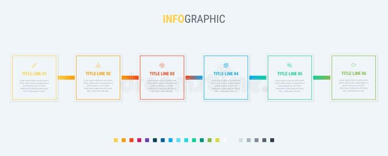 传染媒介infographics时间安排与长方形元素的设计模板 内容,日程表,时间安排,图,工作流,事务, 皇族释放例证