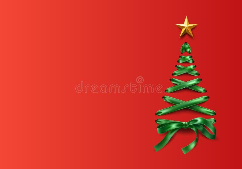 传染媒介lace-up圣诞树由鞋带做成 皇族释放例证