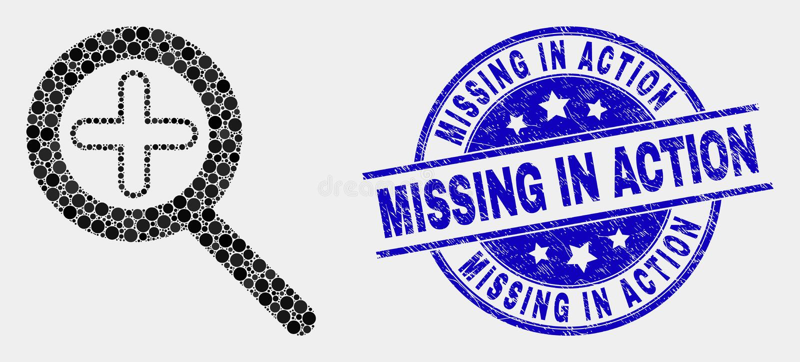 传染媒介Pixelated在象和被抓的战斗中失踪迅速移动封印 向量例证