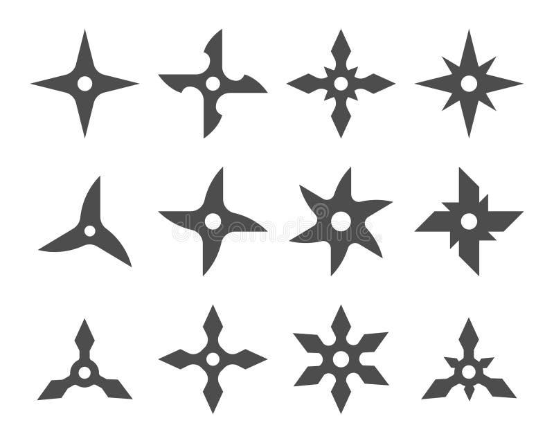 传染媒介Shuriken象集合图表 库存例证