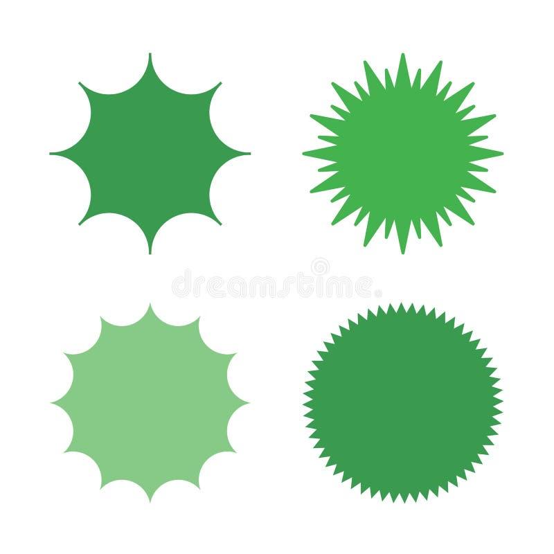 传染媒介starburst集合 库存例证