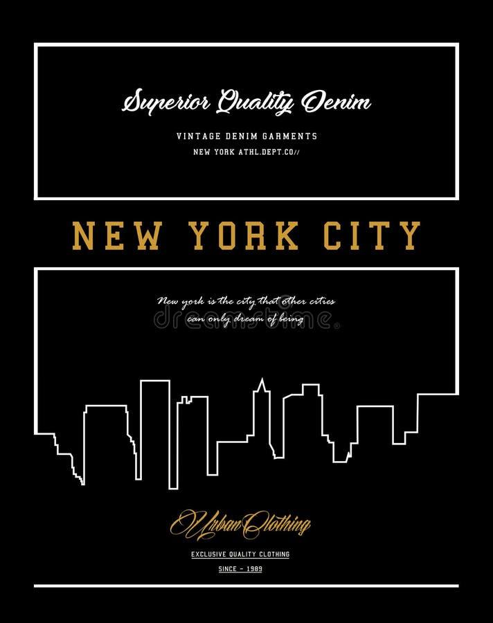 传染媒介typograhy纽约 向量例证