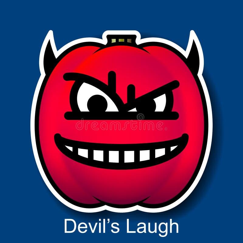 传染媒介万圣夜兴高采烈的恶魔的笑 皇族释放例证
