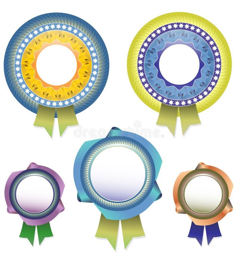 传染媒介与丝带的空白奖 库存例证