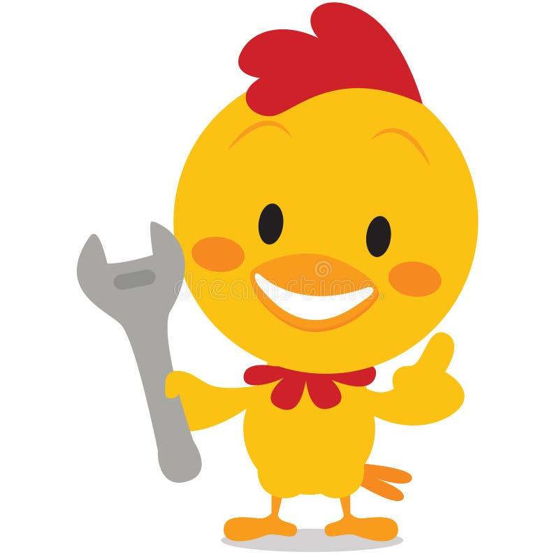 传染媒介与工具的艺术小鸡 皇族释放例证