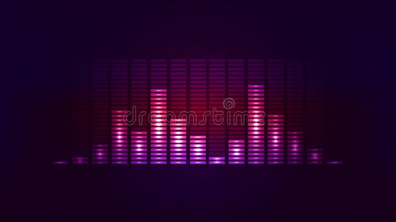 传染媒介与振动声音的techno背景 皇族释放例证