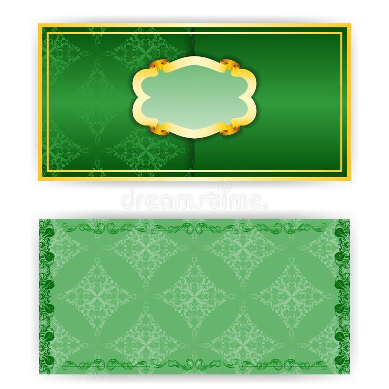 传染媒介与框架的邀请卡片 库存例证