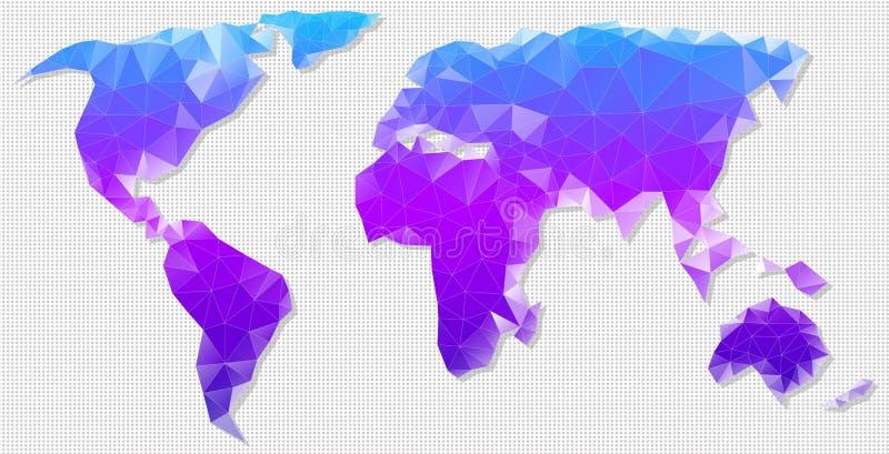 传染媒介世界的多角形地图 皇族释放例证
