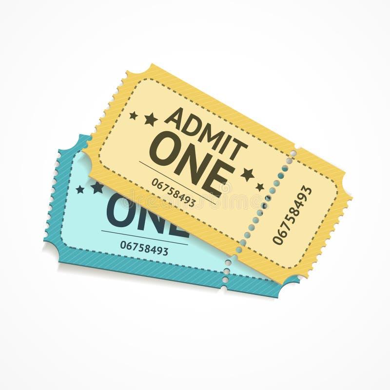 传染媒介两种颜色的票 库存例证