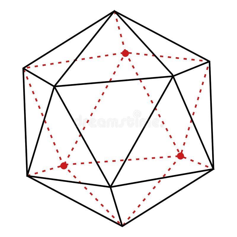 传染媒介个别线路例证-多角形 库存例证