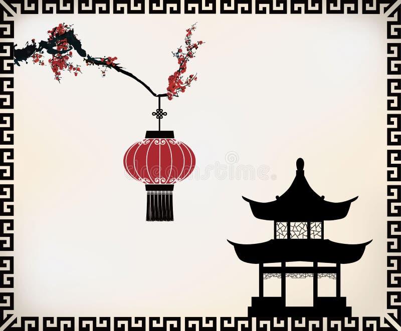传染媒介中国人题材 向量例证